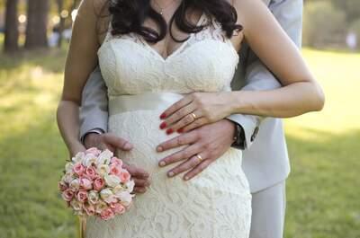 Casamento DIY de Carol & Igor: sunset wedding com noiva grávida e LINDA no interior de São Paulo!