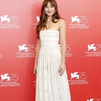 September 1, 2018 - Venice, Venetien, Italy - Dakota Johnson during the 'Suspiria' photocall at the 75th Venice International Film Festival at the Palazzo del Casino on September 01, 2018 in Venice, Italy (Credit Image: © Future-Image via ZUMA Press) Presentación de la película Suspiria en Venecia 589/cordon press