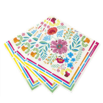 Servilletas flores de colores 20 unidades- Compra en The Wedding Shop