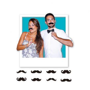 Atrezzo para Photocall Bigote 8 Unidades- Compra en The Wedding Shop