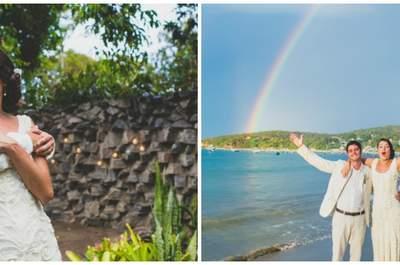 Isabella & Eduardo: casamento na praia SUPER descontraído em Búzios!