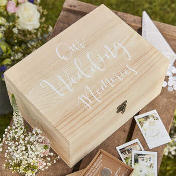 Caja De Madera Recuerdos- Compra en The Wedding Shop