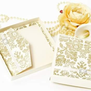 El estilo rococó francés es perfecto para una boda tradicional o de estiqueta. Foto de Tiffany deluxe