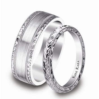 Kirk Kara Platinum Wedding bands