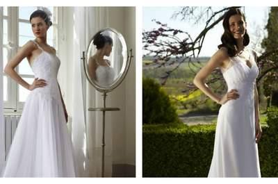 Artisanat et modernité au coeur de la collection 2015 de robes de mariée Créations Bochet