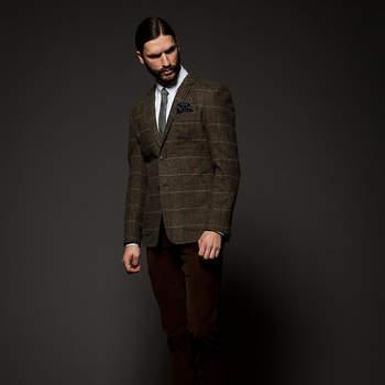 Recupera el tweed en tus trajes este invierno. Foto: Jack and Jones