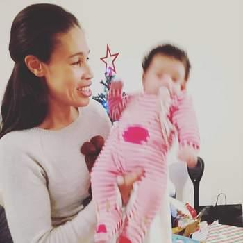 A ex-atleta olímpica Naide Gomes foi mãe de um menino, o seu segundo filho. Miguel nasceu a 15 de outubro. Foto Instagram Naide Gomes
