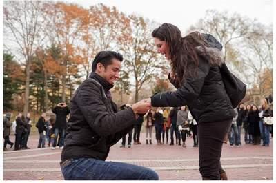 ¡Sí, acepto! El mejor compromiso sorpresa en Central Park, Nueva York