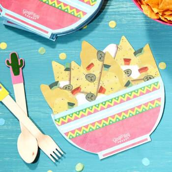 Servilletas nachos fiesta mexicana 16 unidades- Compra en The Wedding Shop