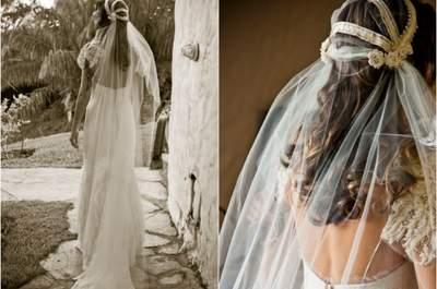 Vestidos, acessórios e detalhes para noivas inspirados em um bosque encantado