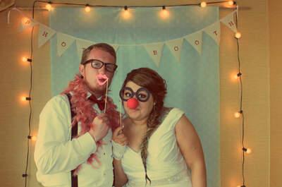 3 ideas para hacer tu propia cabina de fotos de boda DIY