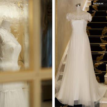 Los modelos más exclusivos de los diseñadores se mostraron a las novias que se acercaron hasta el evento. Foto: Belle Day. http://belleday.com/es/