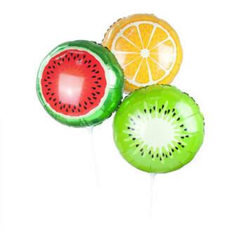 Globos forma frutas 3 unidades- Compra en The Wedding Shop