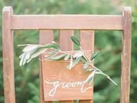 Оформление свадебных стульев 2017