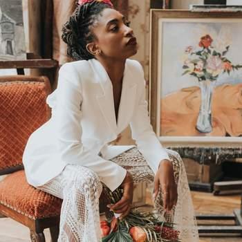 Mariée en pantalon : confort et style assurés avec un look parfait !