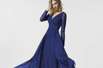 Más de 40 vestidos de fiesta azules. ¡Un color elegante y clásico para tu look de invitada!
