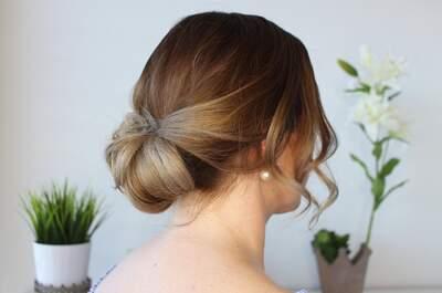 Eine zauberhaft einfache Hochsteckfrisur - perfekt für die Hochzeit