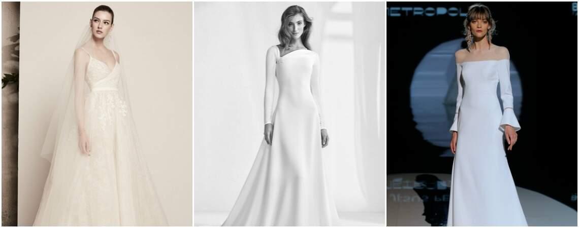Robes de mariée évasées : la coupe qui va à tout le monde