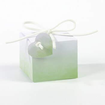 Cajita cuadrada acuarela verde 20 unidades- Compra en The Wedding Shop