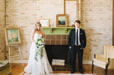 Real Wedding : mariage rétro et romantique dans le Michigan