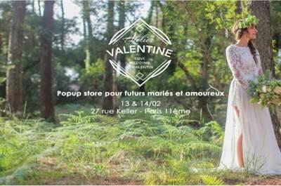 La boutique éphémère Atelier-Valentine ouvre ses portes à Paris.