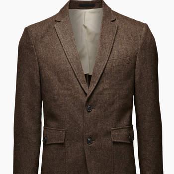 Otra chaqueta de tweed estilo inglés de Jack and Jones. Foto: Jack and Jones