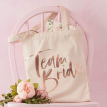 Sac En Toile Team Bride - The Wedding Shop !