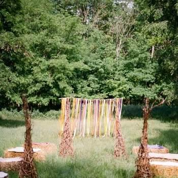 Original decoración de la ceremonia.
