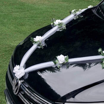 Guirlanda para coche blanca - Compra en The Wedding Shop