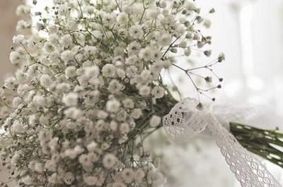 Buquê de Gipsófilas: uma opção delicada e romântica