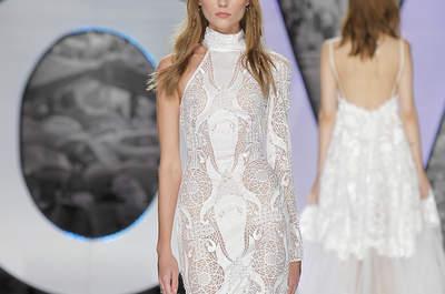 Vestidos de novia con cuello alto: ¡Elegancia y armonía en tu look nupcial!