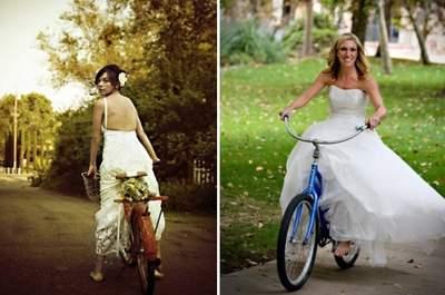 Bicicletas no seu casamento: uma inspiração divertida e original