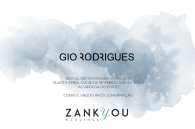 Consiga um convite exclusivo para o desfile da nova colecção 2016 Gio Rodrigues!