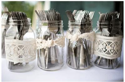 Tendencia de boda: decoración con tarros de cristal