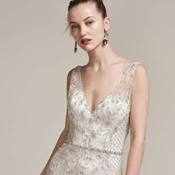 Vestidos de novia con pedrería 2017: Deslumbra a todos invitados el día de tu boda