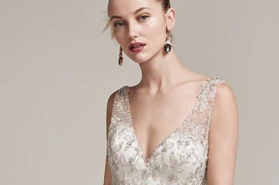 Robes de mariée avec strass et perles 2017 : glamour au rendez-vous !