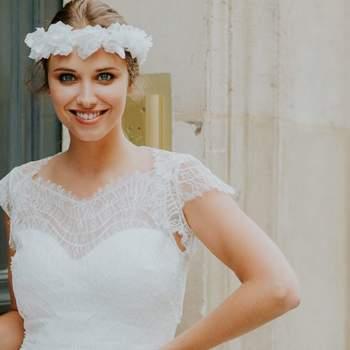 Robe de mariée vintage modèle Flore - Crédit photo: Elsa Gary