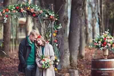 Идеи по декору свадебных арок осенью!