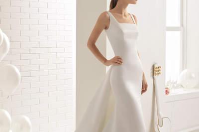 Свадебные платья с квадратным вырезом: вечная классика
