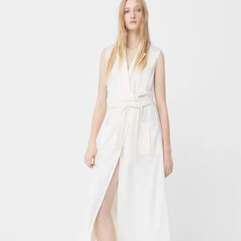 Vestido comprido cinto da Mango (39,99€)