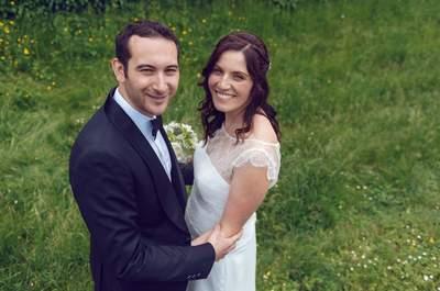 Aurélien et Emmanuelle : un joli mariage illuminé par le sourire des mariés