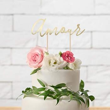 Cake topper Amour- Compra en The Wedding Shop