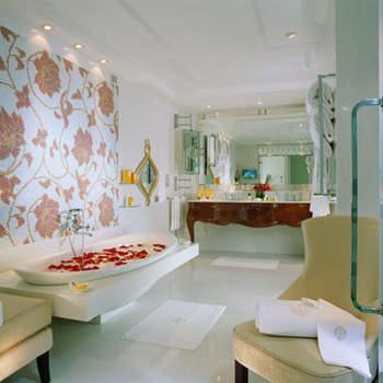 La stanza da bagno dell'Imperial Suite
