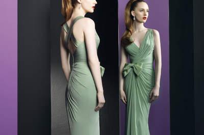 Vestidos de fiesta de color verde para las invitadas de 2013