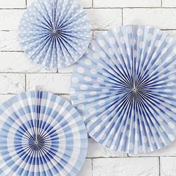 Rosetones Decorativos Azules Claros 3 unidades- Compra en The Wedding Shop