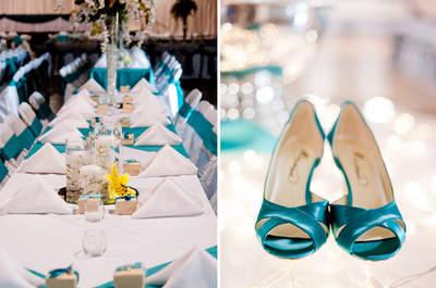 Per il tuo matrimonio 2016 scegli dettagli color acquamarina!