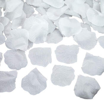 Pétalos De Tela Blancos 100 unidades - Compra en The Wedding Shop