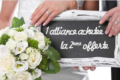 Une alliance achetée, la seconde offerte : ça se passe chez Franck Gef Paris
