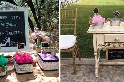 Por qué regalar en tu boda cubretacones: las ventajas que te harán decidirte