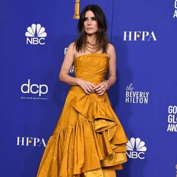 Sandra Bullock abito Oscar de la Renta. Crédits Cordon Press